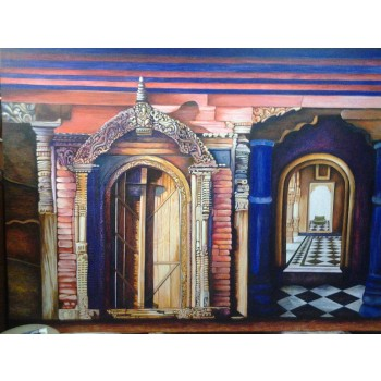 Secret Monument (art - oil painting)
