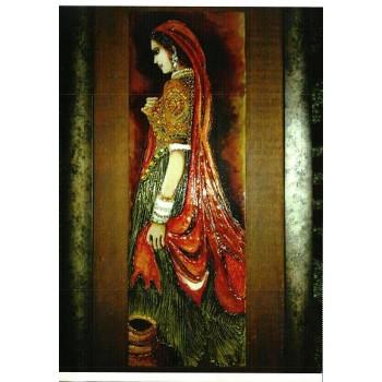 The Royal Damsel of Dungargarh (Large) (art - mix media painting)