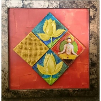 Gaining enlightenment (art - painting with magnetic tiles)