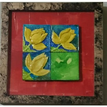 Suffering is path to enlightenment (art - painting with magnetic tiles)