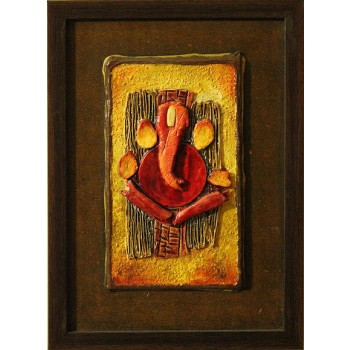 Om Ganapataye Namah (art - 3D mix media painting)