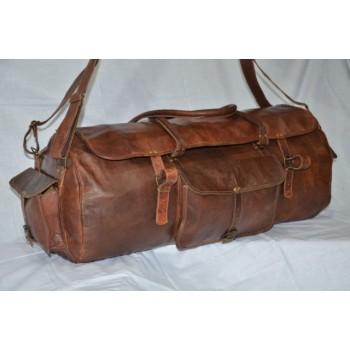 Genuine leather drum bag/ duffle bag /gym bag /travel bag