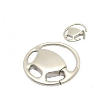 Premium steering wheel key chain