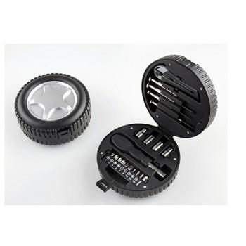 Tyre shaped tool kit