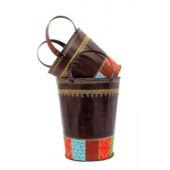 Set of 2 Decorative Buckets