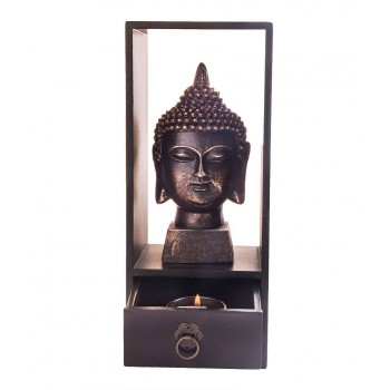 Buddha Head with a Tea Light