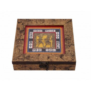 Ethnic Handcrafted Golden Dhokra Work Box
