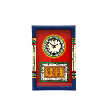 Indikala Warli Handpainted & Dhokra Work Clock