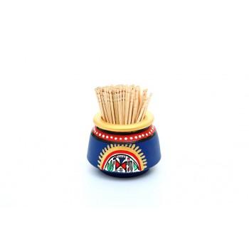 Indikala Blue Toothpick Holder
