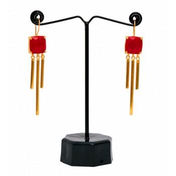 Red Diva earrings