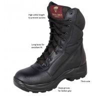 Black para Commando Boots