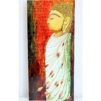 """Peace comes from within"" - Buddha (art - mixed media painting)"