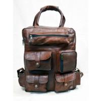 Vintage leather rucksack