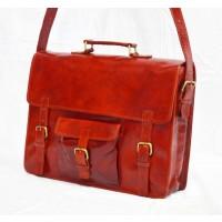 Vintage real leather messenger bag