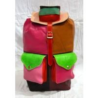 Vintage leather soft multi color unisex travel bag