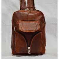 Real Goat Leather shoulder travel bag