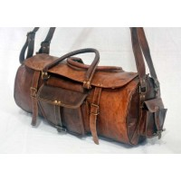 Vintage leather weekend bag
