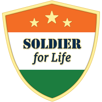 Soldier for Life Shield Magnetic Lapel Pin