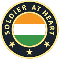 Soldier at Heart Coin Magnetic Lapel Pin