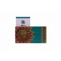Handcrafted warli painted multicoloured sun adorned twin visiting cards holder