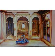 Kathputli - Rajasthani Tales (art - oil painting)
