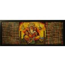 Shri Ganeshay Namah (art - mix media painting)