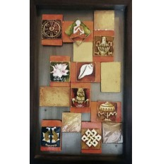 The Eight Auspicious Symbols (art - painting with movable magnetic tiles)