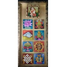 Buddhist Auspicious Symbols (art - painting with movable magnetic tiles)