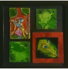 Krishna - Govardhan kahani (art - painting with movable magnetic tiles)