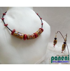 Terracotta, Fish Bead Choker Set