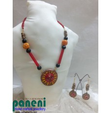 Terracotta, Sun God Necklace Set