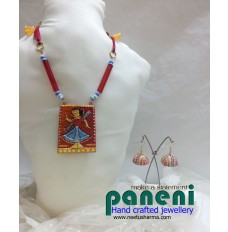 Terracotta, Jamini Roy Pendant Set