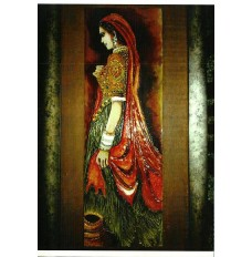 The Royal Damsel of Dungargarh (Small) (art - mix media painting)