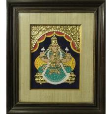 Maa Lakshmi (art - tanjore painting)