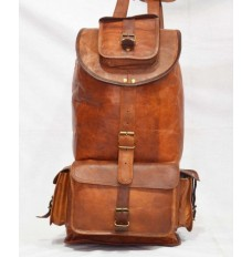 Rock leather backpack