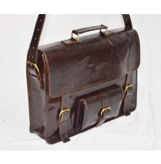 Genuine leather cross body Laptop bag
