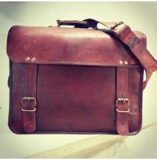 Real leather laptop / briefcase satchel bag