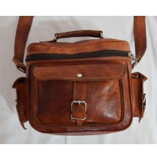 Real leather handmade camera bag