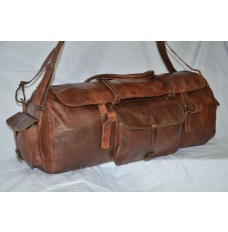 Genuine leather drum bag/ duffle bag /gym bag /travel bag