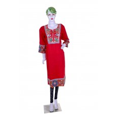 Red stylish gota patti work kurti