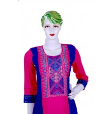 Straight long kurti with different pattern