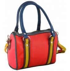 Soft leather multi-purpose handbag