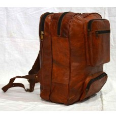 Leather rucksack cum travel bag