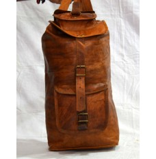 Real leather backpack travel bag