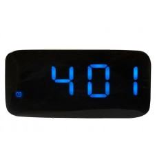 The black glass Magic LED clock with blue LED