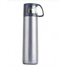 Insulated double wall flask with cup