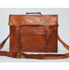 Natural leather laptop and briefcase