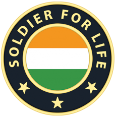 Soldier for Life Coin Magnetic Lapel Pin