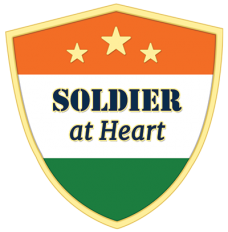 Soldier at Heart Shield Magnetic Lapel Pin