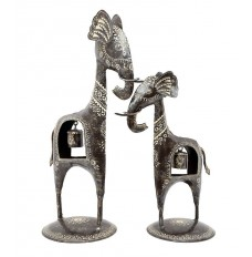 Set of 2 Elephants with Belly Bells